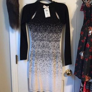 Cache Dress with chest slits